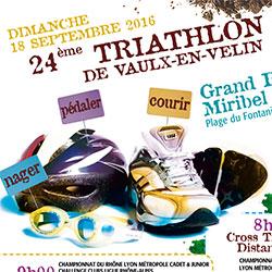 Affiche Triathlon de Vaulx-en-Velin 2016